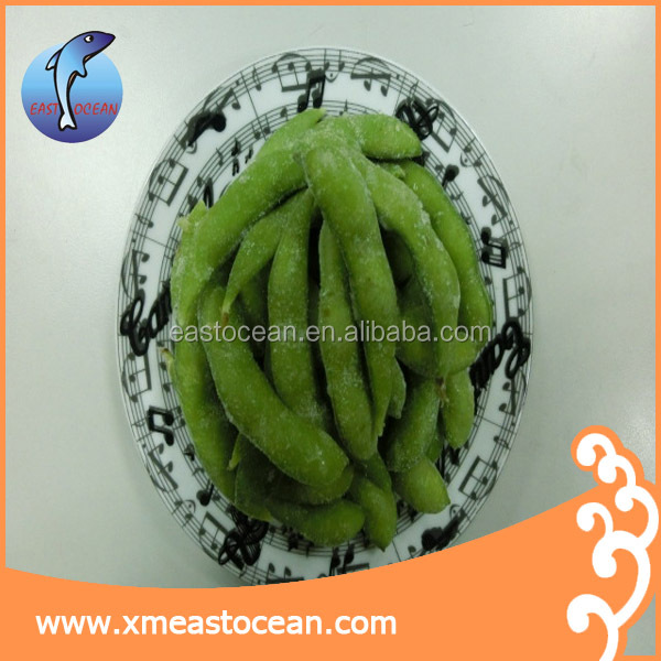 Hot selling food frozen soy bean meal in pod boiled wholesale