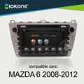 China factory offer 8'' touch screen Car Radio For Mazda 6 2008 2009 2010 2011 2012