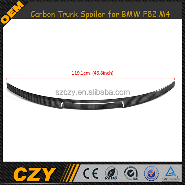 Carbon Fiber Aftermarket Spoiler for BMW F82 M4 P Style