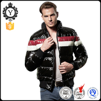 Casual fashionable polyester mens shiny down jackets for winters