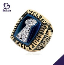 18K gold or brass jewelry wholesale 1986 New York Giants championship ring