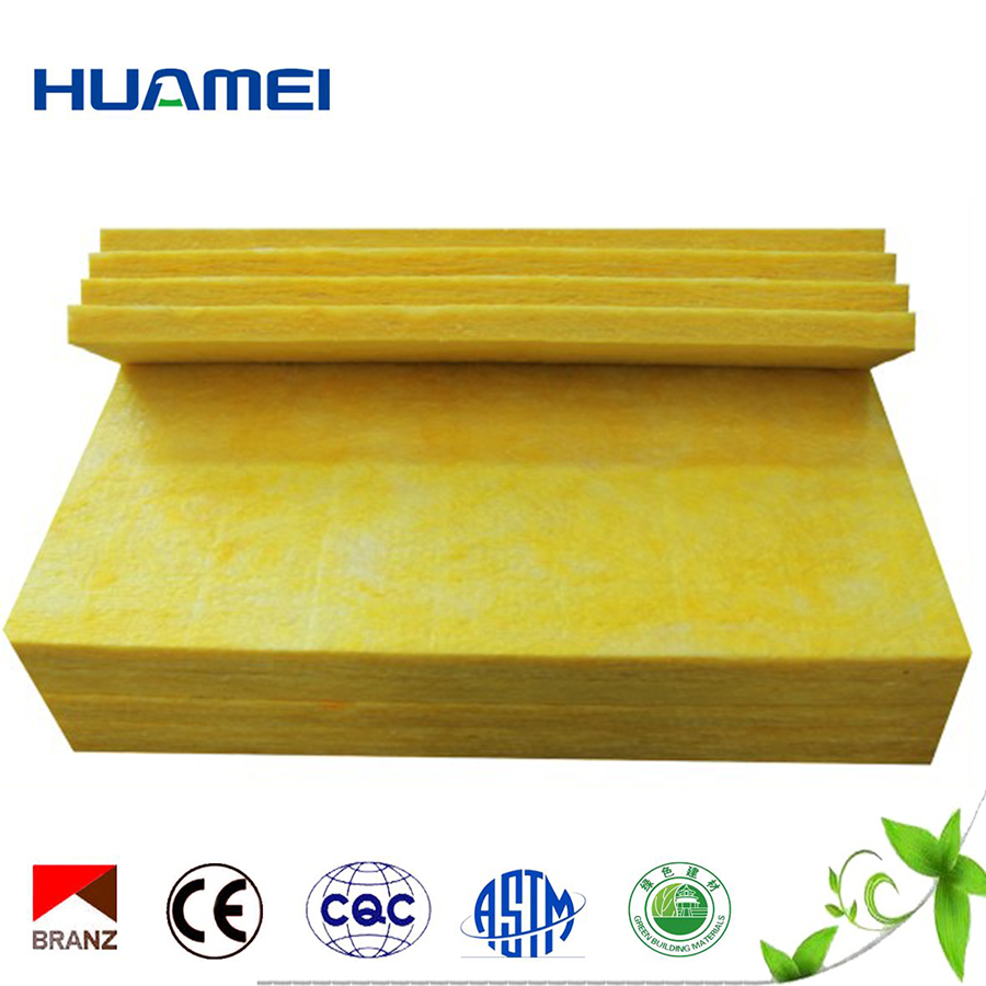 China supplier waterproof glass wool board heat and cold insulation material