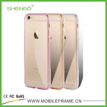 SHENGO Diamond Custom Logo Case for iPhone 6s