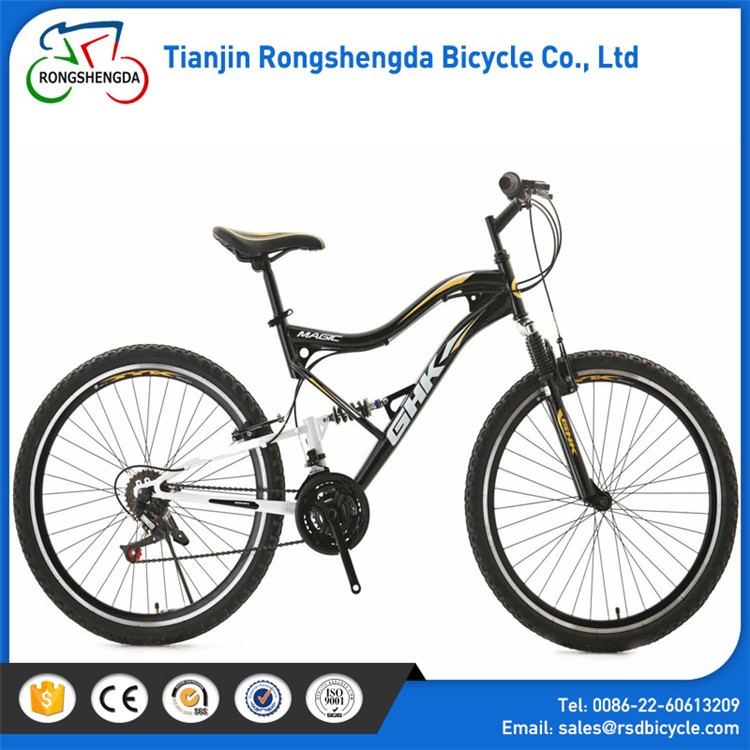 New model full suspension downhill bikes mtb with disc brake/27s mountainbike with best derailleur/full suspension mountain bike