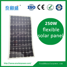 High quality sun power cells material 250W flexible solar panel for sale