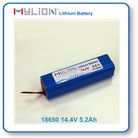 Mylion 18650 5200mah 14.4V 4S2P Rechargeable Lithium Battery