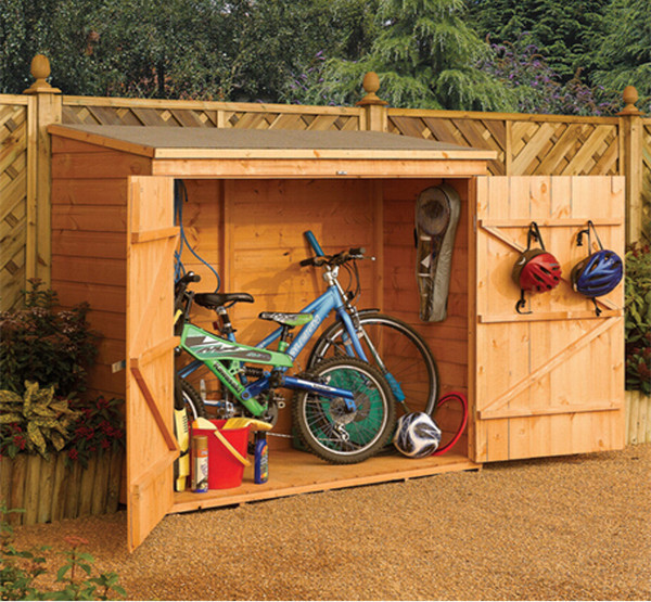 Outdoor storage wooden tool shed, garden shed