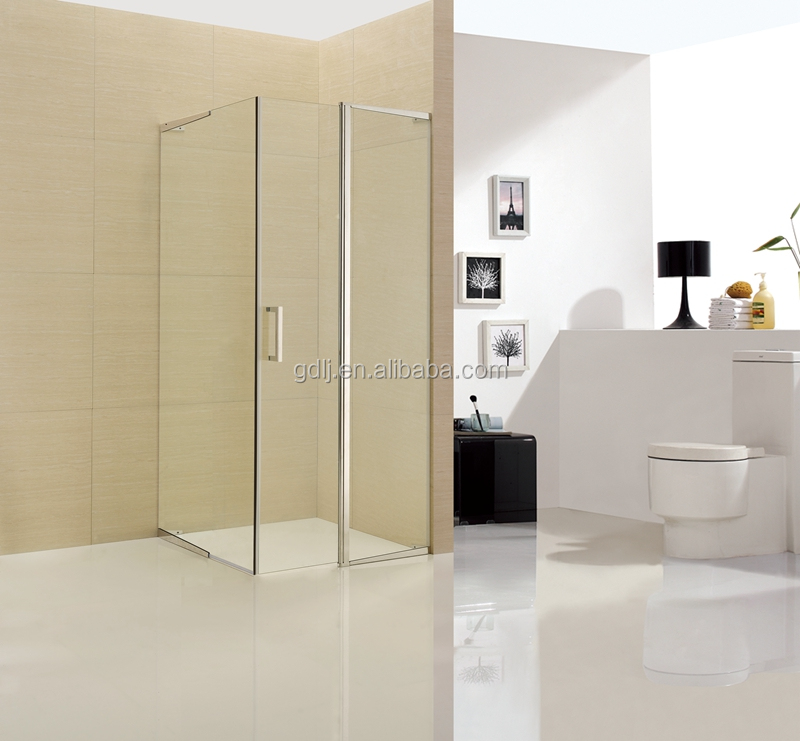 Customized colored glass door stainless steel shower enclosure