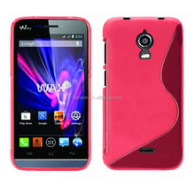 for wiko wax hot pink s line tpu case gel cover wiko case high quality factory price
