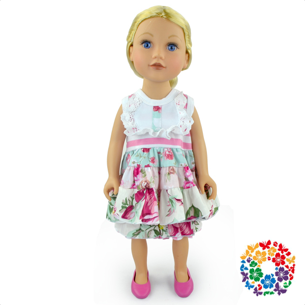 Pretty 18 Inch Doll Clothes Cotton Ruffle Doll Cloth American Girl Wholesale Doll Clothes