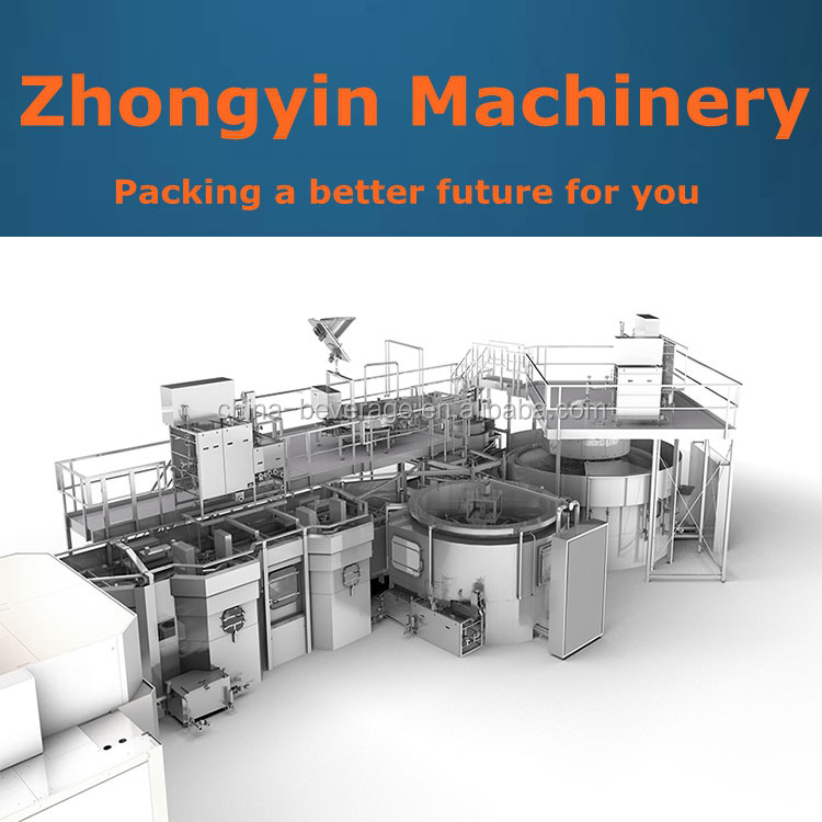Aseptic cold filling beverage filling juce filling sealing machine