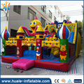 Funny amusement attractive inflatable fun city, inflatable slide and bouncer combo kids playground