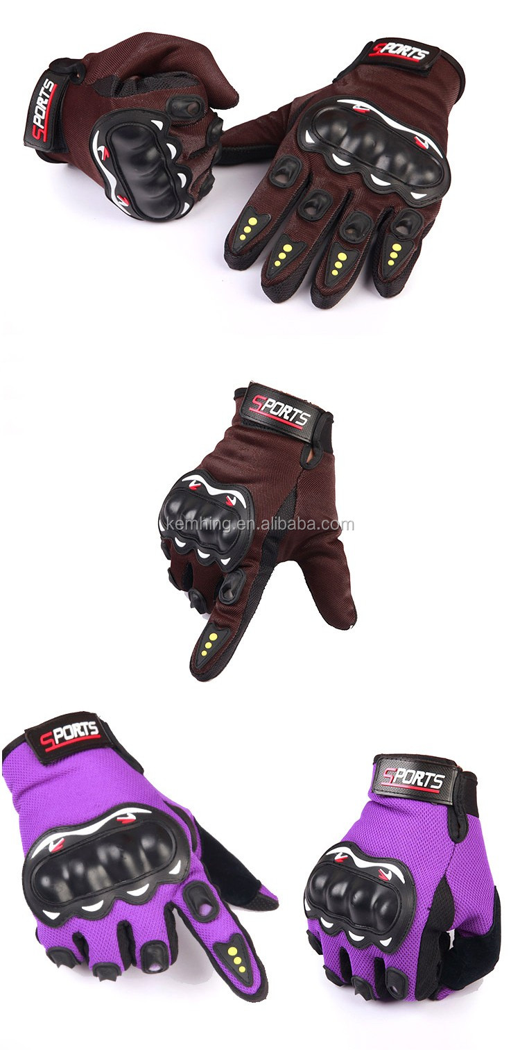 2017 New Black Protective bike glove Full Finger Cheap Racing glove Waterproof Motorbike Gloves