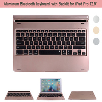 For Apple iPad Pro 12.9'' Ultra Slim Aluminum Wireless Bluetooth Keyboard Magnetically Backlit ABS Key w/ Colorful Back Light