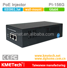 Gigabit PoE Injector PI-156G Support OEM 60W power supply 802.3af/at for surveillance IP camera hot