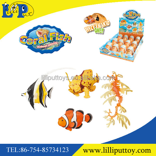 PVC Plastic Assembling 3d Animal Puzzle Toy Cora Animal for kids