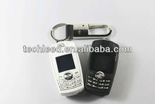 New arrival high quallity key holder GSM Alibaba express mini car shaped key cellphone X6