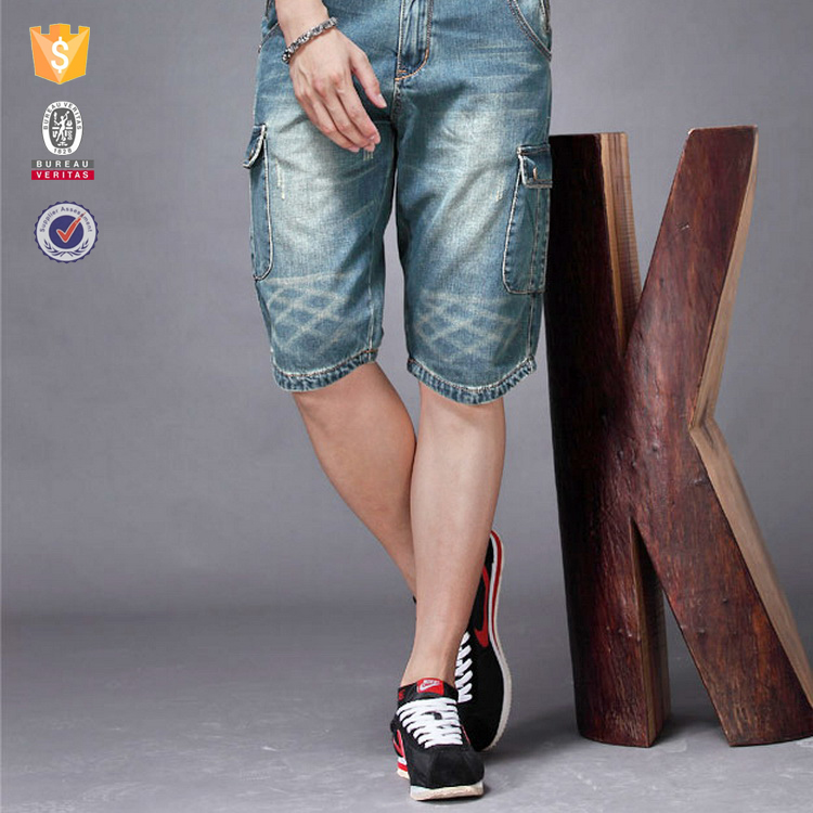 100% cotton summer mens ankle length jeans