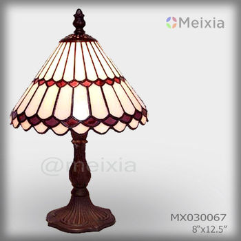 MX000044 wholesale tiffany style stained glass desk lamp for home decoration piece