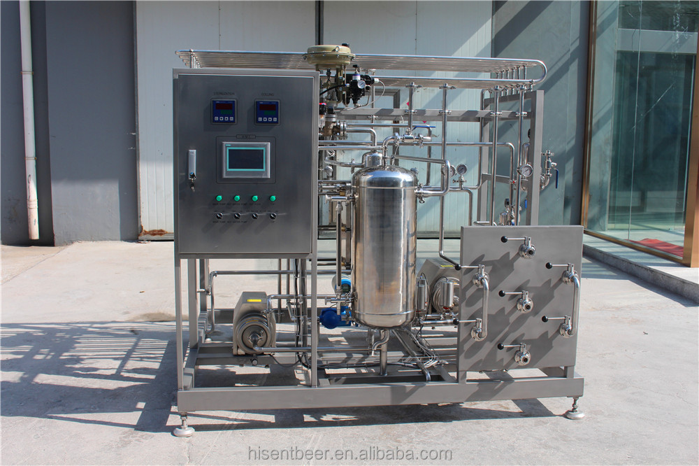 High quality China Qingdao 2T Touch Screen Beer Pasteurizer