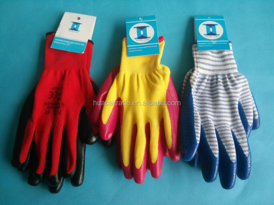 13g polyester nitrile coated western safety gloves labor hand cycling glovesCoated Glove gloves