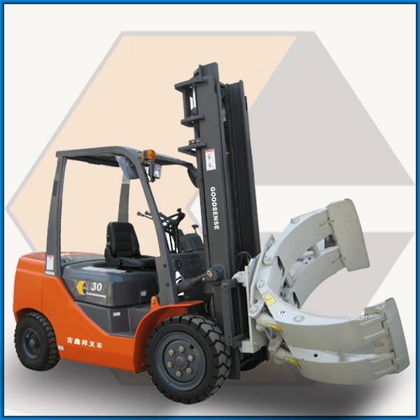 3.0t with Paper Roll Clamp / Rotating Clamp Diesel Forklift Truck