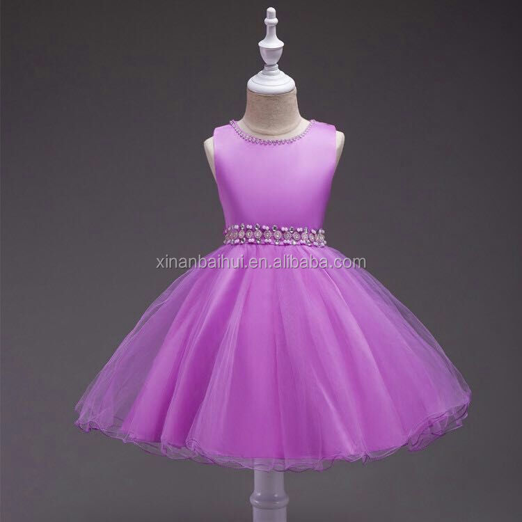 Korean style Pink Flower Girl Dress <strong>1</strong> Beaded Design girl gown3 Birthday party dress for 8 years old