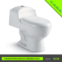 K038 Best Selling white water saving siphonic one piece cheap bathroom sanitary toilet
