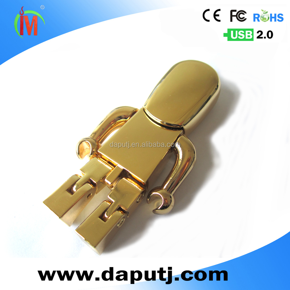 removable arms and legs robot usb flash drive metal usb pen drive with laser logo