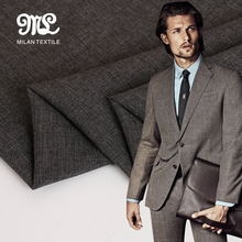 Best selling wholesale brown mens italian wool tr suiting fabric