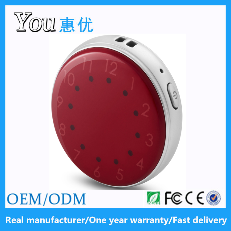 Huiyou new release good quality round sos function gps tracker device for kids elderly