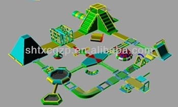 Inflatable Water Sports Water Park 100, the biggest inflatable water park