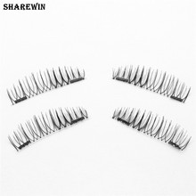 Classic Magnetic False Eyelashes Thick Fake Magnetic Eye Lashes Extension Tools (double magnet)