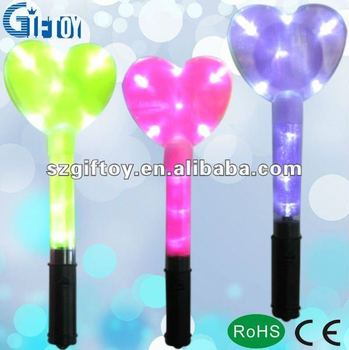 heart led glow stick for party