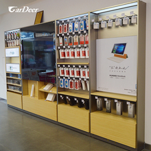 2017 hot-selling stainless steel wall mobile phone accessories display showcase for huawei store experience