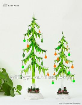 snowing christmas tree with led &christmas decoration