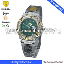 New arrival 2013 Cheap price mens wrist watches with Army Compass day-date 3ATM in lower price