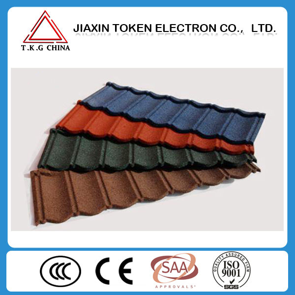 color sand stone coated steel roofing tiles