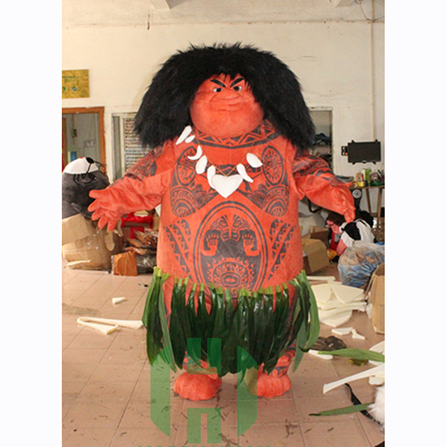 Supreme gods and funny humor Maui mascot costume in Moana movie