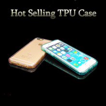 Ultra slim transparent and clear TPU cell phone for iphone6 6plus All round protect mobile phone