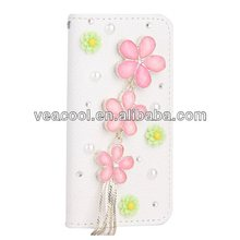 Flower Handmade Leather Case Cover For iPhone 5 5G 5S Case