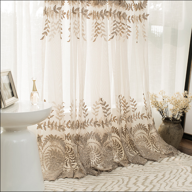 wholesale ready made luxury elegant fashion window curtain all match turkish curtain fabric latest design