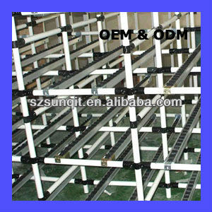coated round lean pipe FIFO flow rack