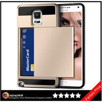 Keno Credit Card Holder Phone Case for Samsung Galaxy Note 3 Hard Soft Hybrid Cover