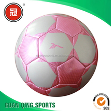 Pink Laser Soccer Ball Size 5 Good Price in Bulk Normal Weight Outdoor Playing