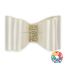 fashion baby hair accessories adorable ivory teenage large hair bow
