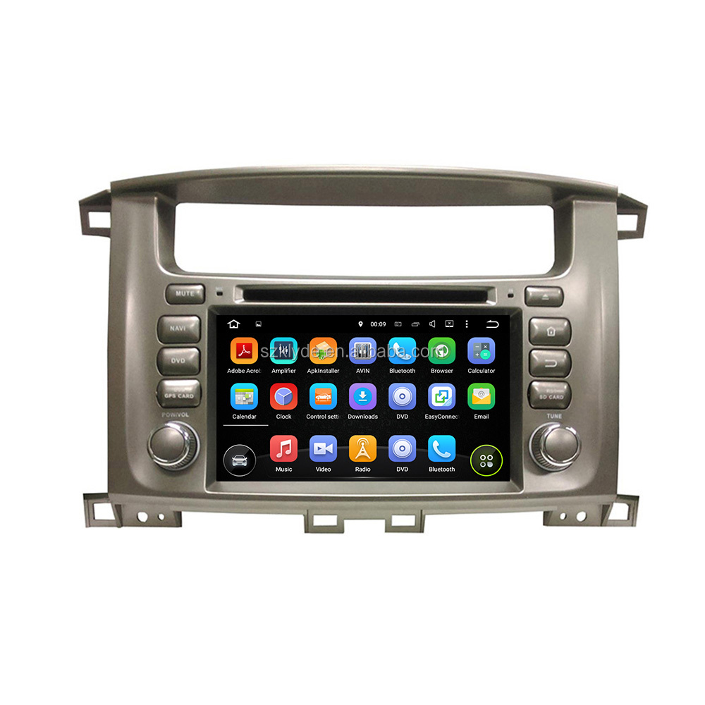 Android 6.0.1 8 core touch screen 32G ROM in dash car dvd gps for Lander Cruiser 100 dvd payer for car