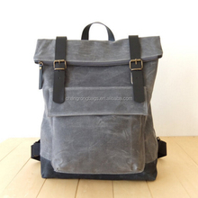 Waterproof Waxed Canvas Backpack With Custom Design Logo