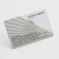 2016 china supplier clear frosted plastic business cards