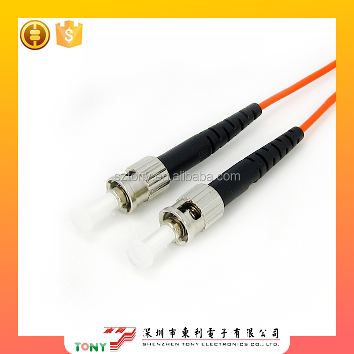 free shipping round connectors simplex ST-ST single mode fiber optic patch cords